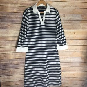 Brooks Brothers Blue White Striped Polo Dress Sz M